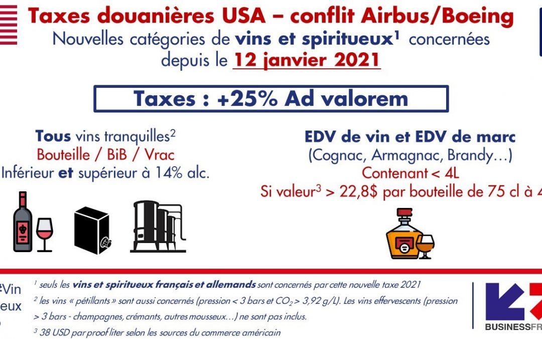 Etats-Unis : conflit Airbus – Boeing, de nouvelles taxes douanières